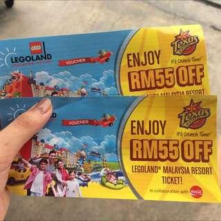 Legoland Tickets X 2