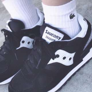 降💥全新saucony shadow black white