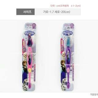 韓國帶回。冰雪奇緣兒童牙刷