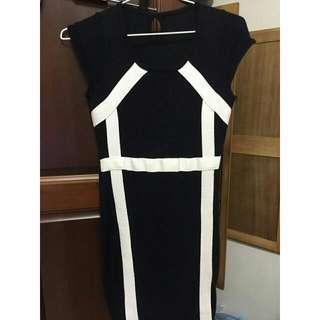 黑白時尚連身裙