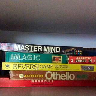 Vintage Board games Like Mastermind, Otello, Monopoly and more!