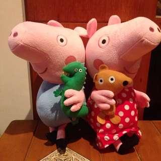 恐龍豬小妹與弟弟