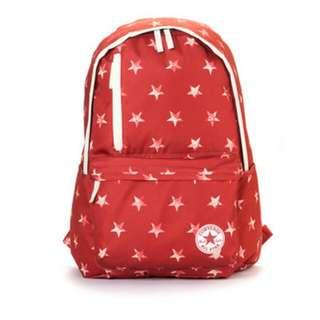 (含運650元)二手正品converse紅色星星後背包