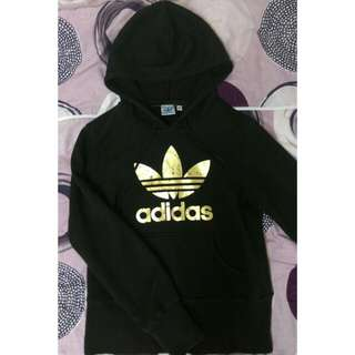 Adidas金色logo燙印帽T(保留)