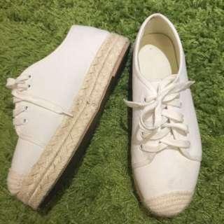 MIK韓國厚底草編鞋