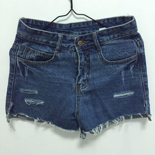 <全新>藍色破壞牛仔褲✨