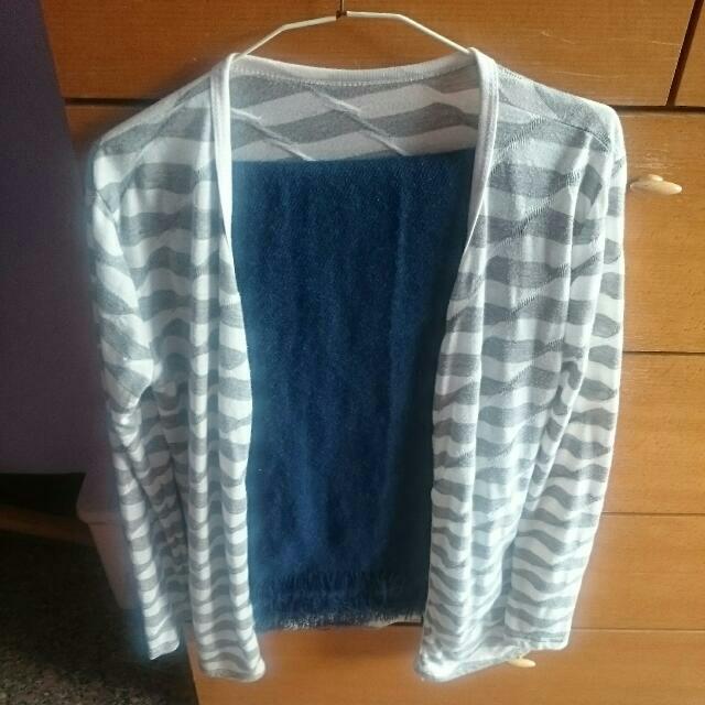 薄外套+圍巾
