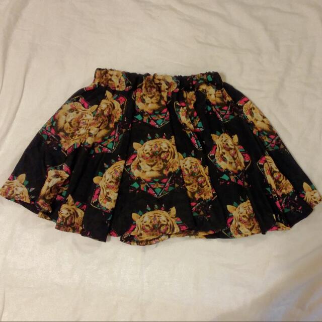 個性幾何虎頭褲裙