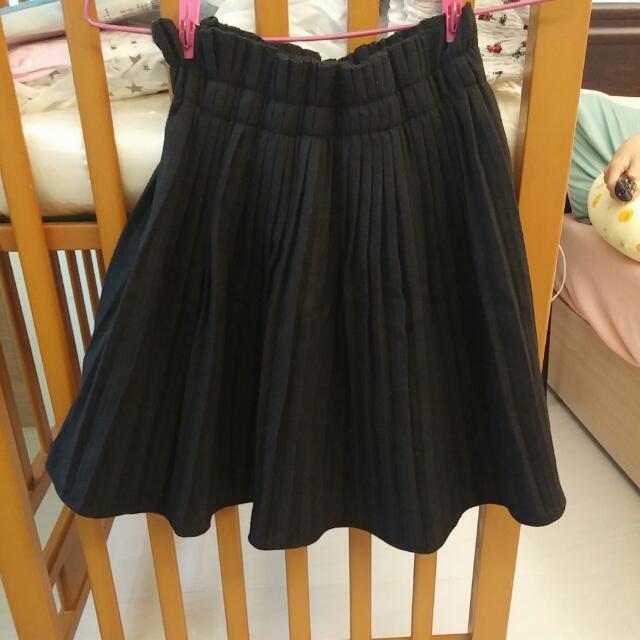 東京著衣氣質高腰黑裙