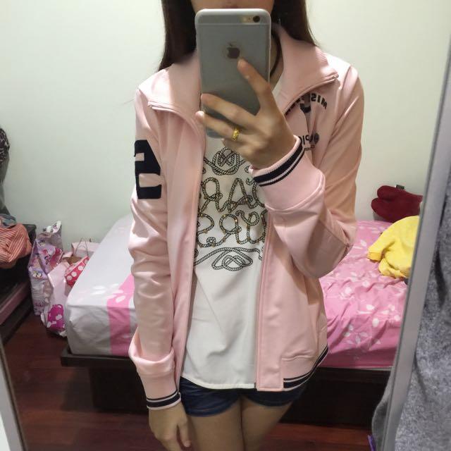 粉色運動休閒外套