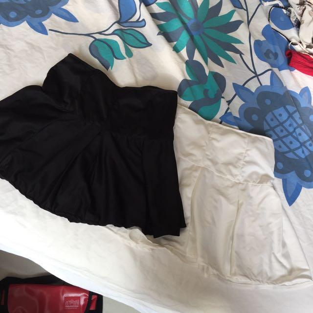 黑白百搭裙