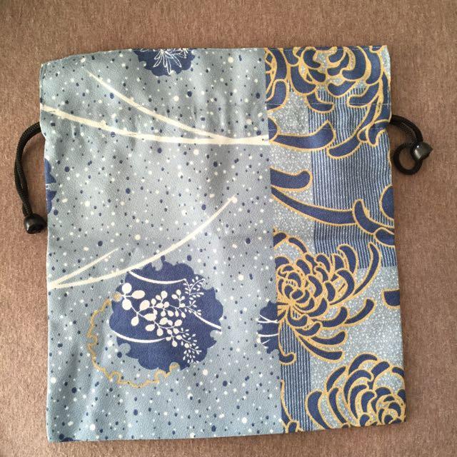 日本製♨️溫泉用巾口袋/束口袋。