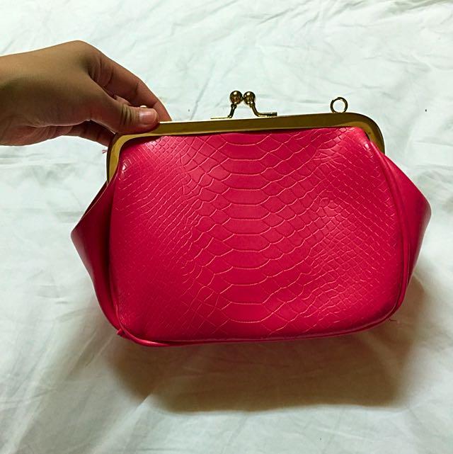 桃紅色鍊條包