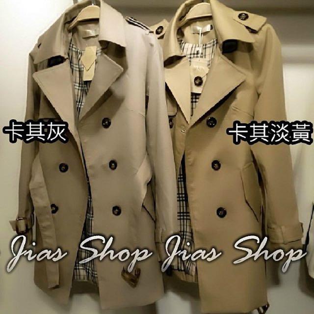 韓版 風衣外套 顯瘦版👯