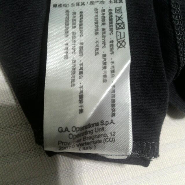 二手 T恤 男裝 長袖 EA7 黑色 S號 品牌 名牌