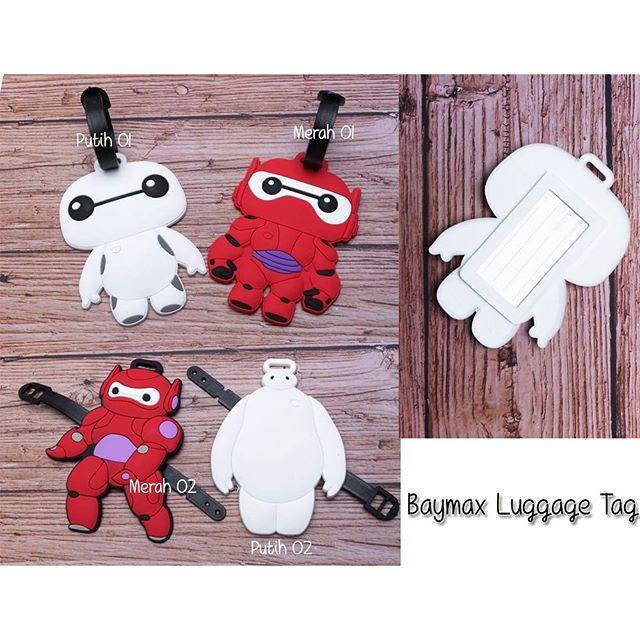 Baymax cute luggage tag