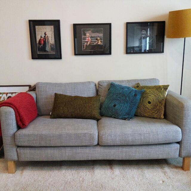 Ikea karlstad two seater sofa furniture home on carousell Ikea karlstad sofa