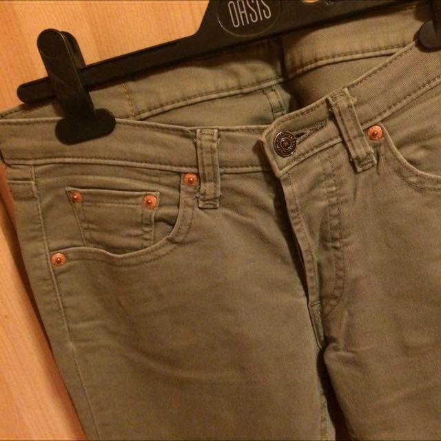 Lives 540系列軍綠色牛仔褲