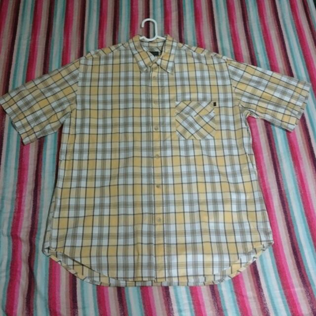 Marlboro Classics 格紋 口袋 襯衫短袖 萬寶路 義大利品牌 XL