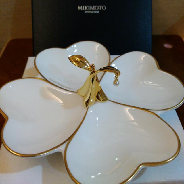 母親節禮品❤全新Mikimoto飾品盤附紙袋噢