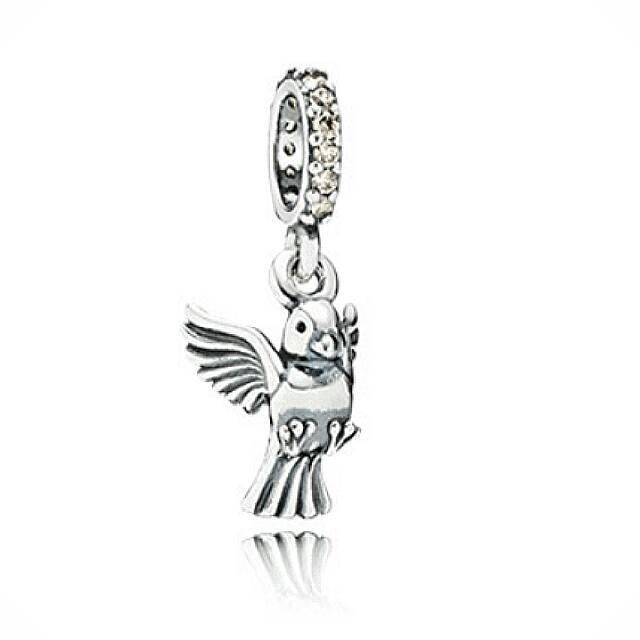 潘朵拉pandora鑲鑽和平鴿