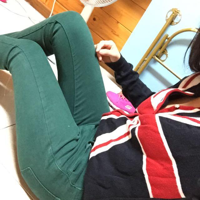 uinqlo綠色長褲💕