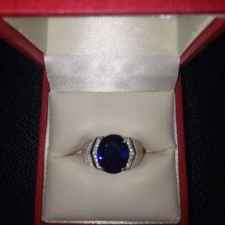 Blue Crystal Sapphire Ring