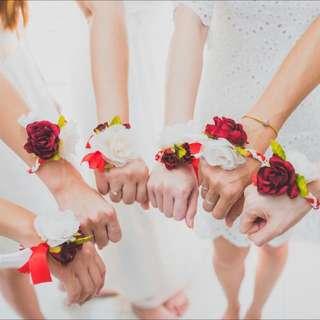 Handmade Bridesmaids Flower Bracelet