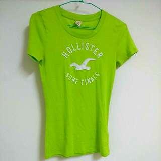 Hollister草綠 短袖上衣