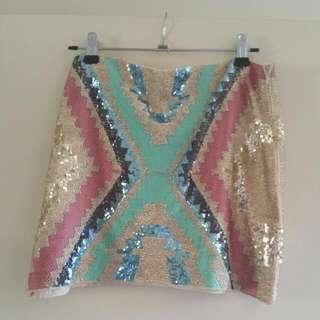Boohoo Sequin Skirt