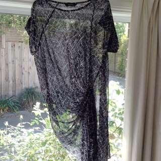 Black/White Sheer Dress