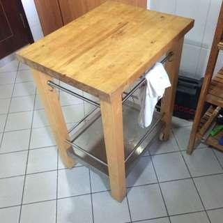 Kitchen Cutting Bench On Wheels