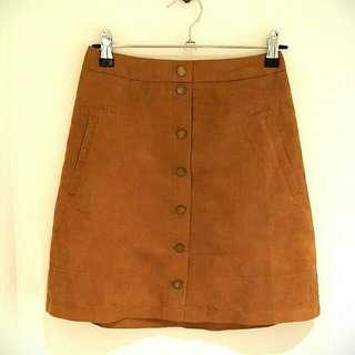 """""""Ally-en"""" Brown Skirt"""