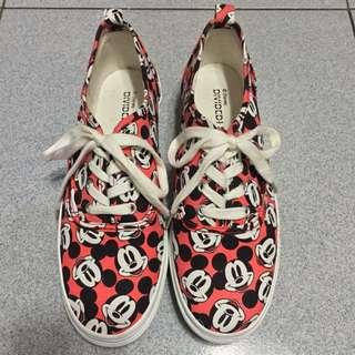 H&M x Disney聯名 米奇厚底鞋 松糕鞋  38號 24號