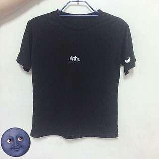 文字Night 造型素踢