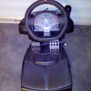 Logitech Steering Wheel And Foot Pedals
