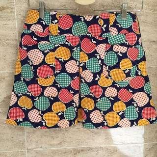 滿版蘋果短裙🍎日本古著