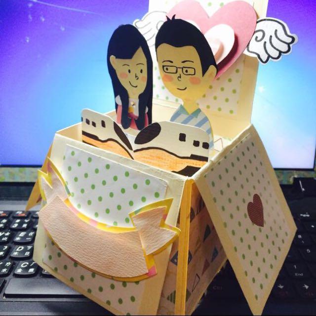 (手工卡片)立體盒子