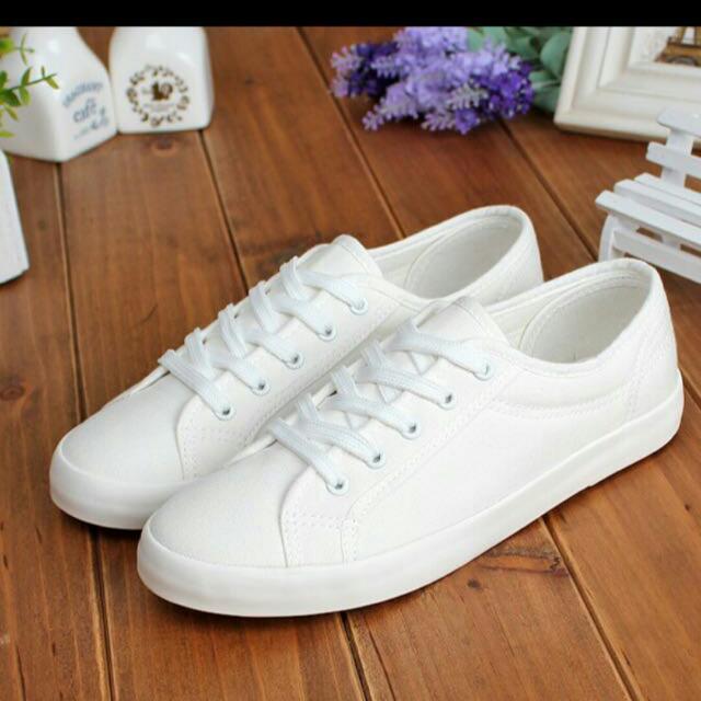 (待匯款)韓國百搭小白鞋
