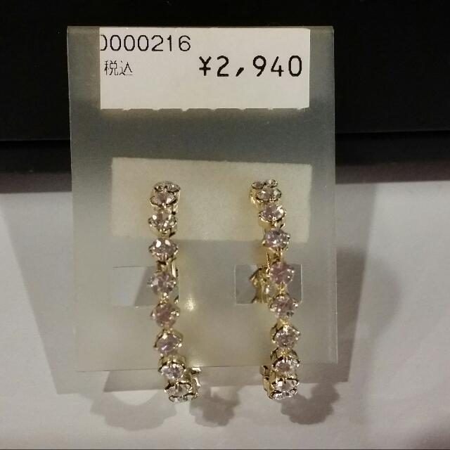 排鑽夾式耳環