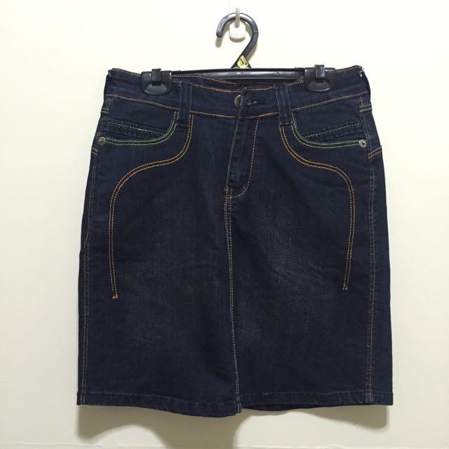 深藍 牛仔短裙