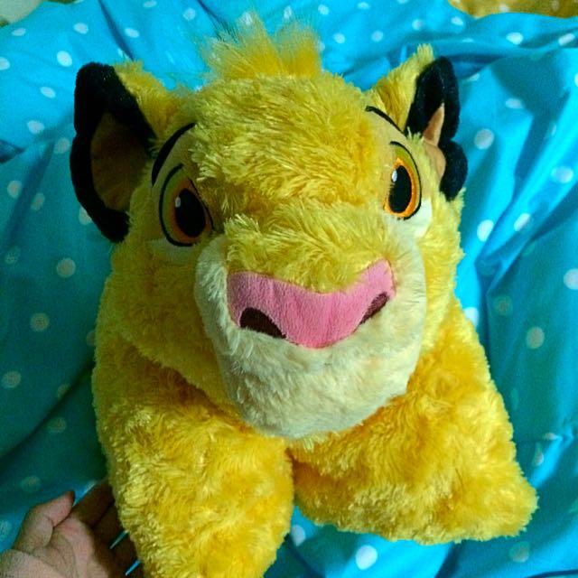 辛巴 獅子王 抱枕 美國迪士尼帶回