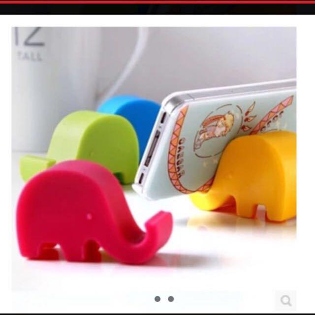 全新 玫紅 藍 綠 大象手機座 Sony Samsung iPhone HTC Asus