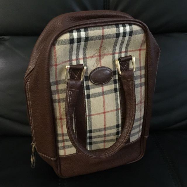 🆓📮 Authentic Burberry Golf Shoe Bag d97af0ece35d2