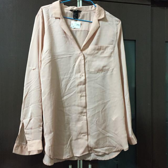 全新🎉H&M 雪紡襯衫