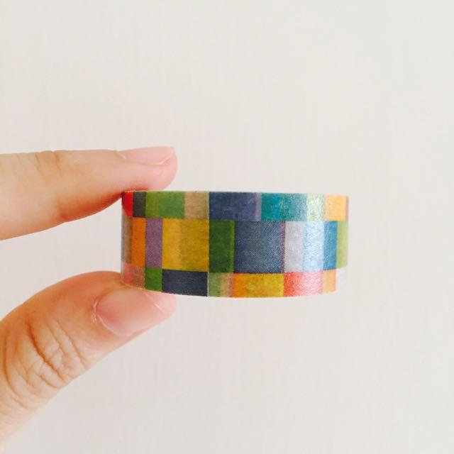 日本 MT 彩色格子 紙膠帶