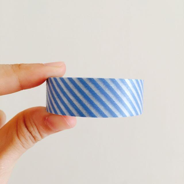 日本 MT 藍色斜紋 紙膠帶