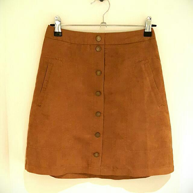 """Ally-en"" Brown Skirt"