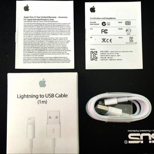 Apple iPhone 原裝高品質Lightning充電線