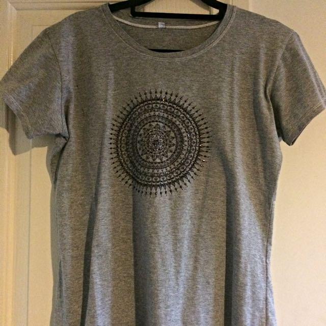 Beaded Grey T-shirt